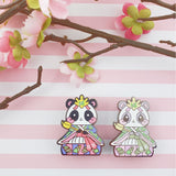 Girls Day Hinamatsuri Enamel Pins ~ Lady Panda