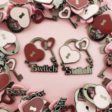 Switch Kinked Love enamel pin