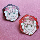 *CLEARANCE* Zero Two Enamel Pin with translucent enamel background