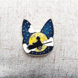 Moonlight Ride enamel pin