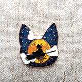 Moonlight Ride enamel pin ~ Kiki's Delivery Service Fan Art ~
