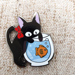 *CLEARANCE* Kitten Trouble Maker Enamel Pin ~ Kiki's Delivery Service Fan Art ~