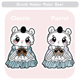 Girls Day Hinamatsuri Enamel Pins ~ Drunk Helper Polar Bear
