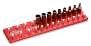 "1/4"" Standard Tool Holder-Socket Trays-Westling Machine-Engraved-Red-2 Row-Westling Machine"