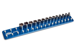 "3/8"" Metric - 24 pins (8mm-19mm)-Socket Trays-Westling Machine-Engraved-Blue-2 Row-Westling Machine"