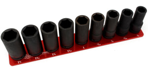 "3/4"" Standard - 9 Pin (3/4"" to 1-1/4"")-Socket Trays-Westling Machine-Engraved-Red-1 Row-Westling Machine"