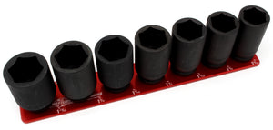 "3/4"" Standard - 7 Pin (1-5/16"" to 1-11/16"")-Socket Trays-Westling Machine-Engraved-Red-1 Row-Westling Machine"