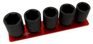"3/4"" Standard - 5 Pin (1-3/4"" to 2"")-Socket Trays-Westling Machine-Engraved-Red-1 Row-Westling Machine"