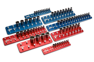 8pc Socket Tray/Organizer Set-Socket Trays-Westling Machine-Engraved-Red-Blue-Westling Machine