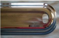 1968-1969 Early Bay Front Bumper-Bumper Trim-Westling Machine-Polished-Westling Machine