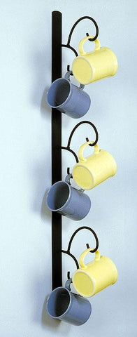 Wall Mounted Mug Rack - Vertical