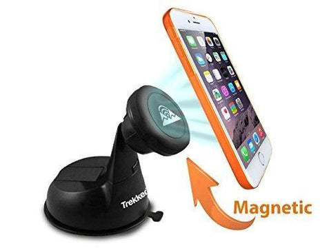 #1 Magnetic Cell Phone Mount Holder fMagnetic Cell Phone Mount Holder | Holds Phones, Phablets, GPS To Dashboard Windshield | Galaxy S6/S5/Note 4,  5s/5c/6 Plus HTC LG and Many More