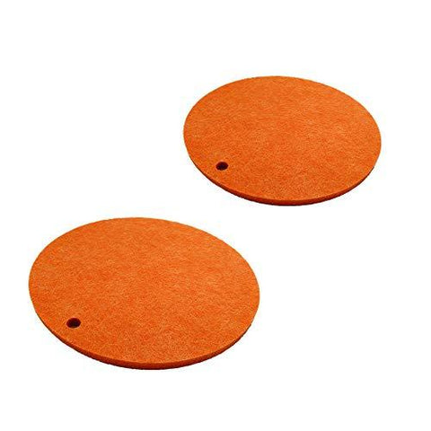 "Kasego Felt Coasters of 2 pcs Absorbent Felt Trivet for Pot and Pans Pot Holders for Kitchen, Protects Your Table & Desk 9.84"" (Round) (Orange)(XX5)"