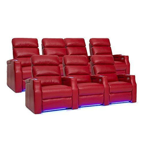 Barcalounger 3499 Matrix Home Theater Seating Power Recline, Red