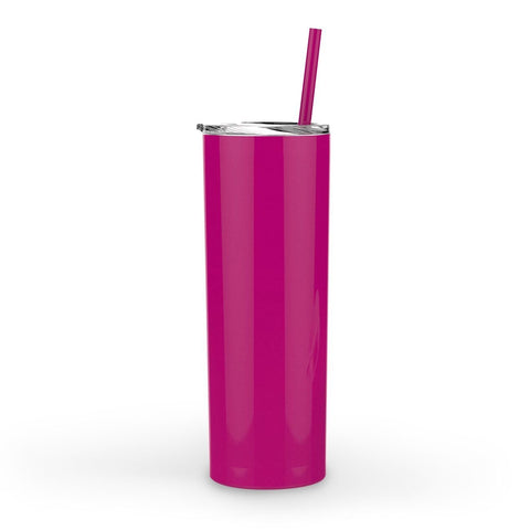 Maars Skinny Steel Stainless Steel Tumbler, 20 oz | Double Wall Vacuum Insulated (Fuchsia)