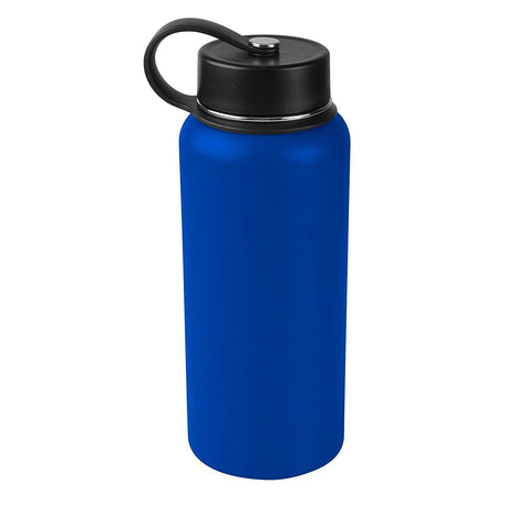 Tahoe Trails 32 oz Double Wall Vacuum Insulated Stainless Steel Water Bottle, Deep Blue