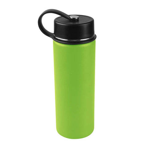 Tahoe Trails 20 oz Double Wall Vacuum Insulated Stainless Steel Water Bottle, Green