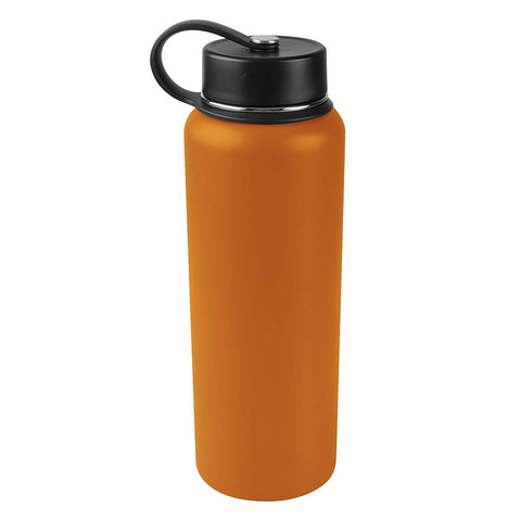 Tahoe Trails 40 oz Double Wall Vacuum Insulated Stainless Steel Water Bottle, Dark Cheddar