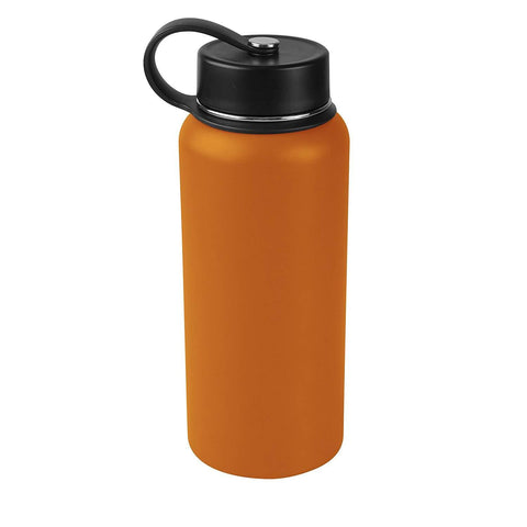 Tahoe Trails 32 oz Double Wall Vacuum Insulated Stainless Steel Water Bottle, Dark Cheddar