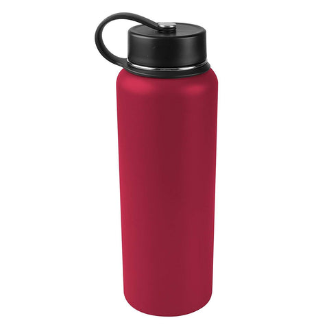 Tahoe Trails 40 oz Double Wall Vacuum Insulated Stainless Steel Water Bottle, Crimsom Red