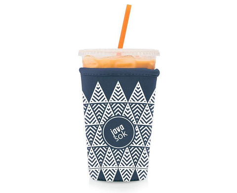 JAVA SOK Reusable Coffee Sleeve – Insulated Neoprene Sleeve for Iced Drinks and Cup Sleeve | Ideal for All Sizes Starbucks Coffee, McDonalds, Dunkin Donuts (Tree Landscape, Medium 22-24 oz)