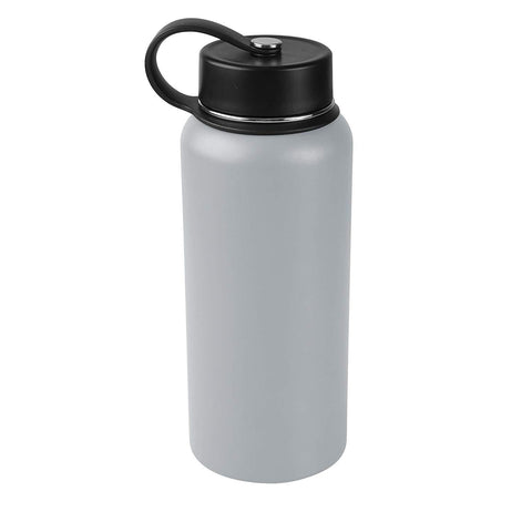 Tahoe Trails 32 oz Double Wall Vacuum Insulated Stainless Steel Water Bottle, Gray