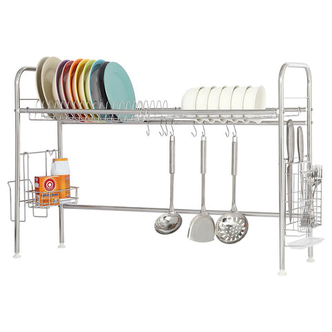NEX Dish Drying Rack Stainless Steel Dish Storage with Chopstick Holder Rrustless
