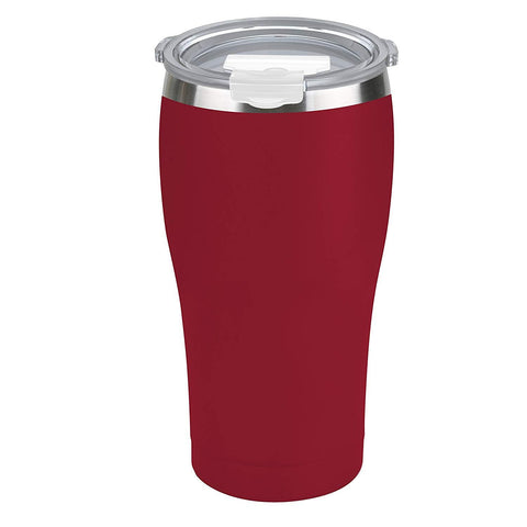 Tahoe Trails 30 oz Stainless Steel Tumbler Vacuum Insulated Double Wall Travel Cup With Lid, Tomato