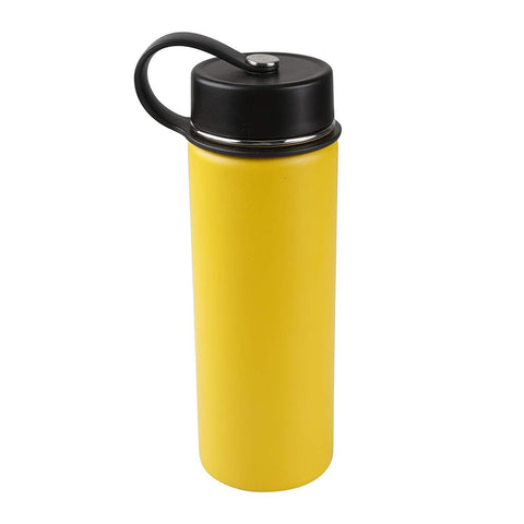 Tahoe Trails 20 oz Double Wall Vacuum Insulated Stainless Steel Water Bottle, Yellow