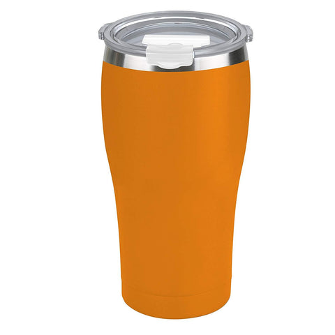 Tahoe Trails 10 oz Stainless Steel Tumbler Vacuum Insulated Double Wall Travel Cup with Lid, Orange