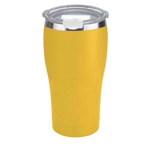 Tahoe Trails 20 oz Stainless Steel Tumbler Vacuum Insulated Double Wall Travel Cup With Lid, Empire Yellow
