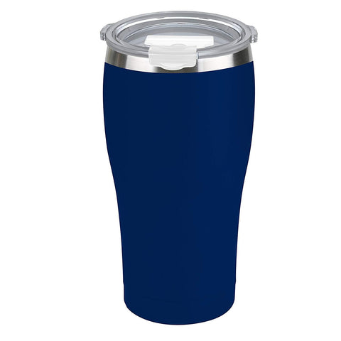 Tahoe Trails 20 oz Stainless Steel Tumbler Vacuum Insulated Double Wall Travel Cup With Lid, Blue