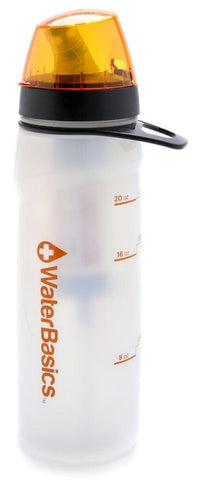 Aquamira WaterBasics Filtered Water Bottle, Green Line