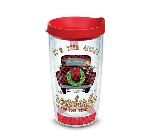 Simply Southern 'Most Wonderful Time of Year' Double Wall Tumbler with Lid by Tervis (3-4 Week Production Time)