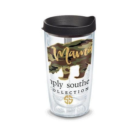 Simply Southern 'Mama Bear' Camo Double Wall Tumbler with Lid by Tervis (3-4 Week Production Time)