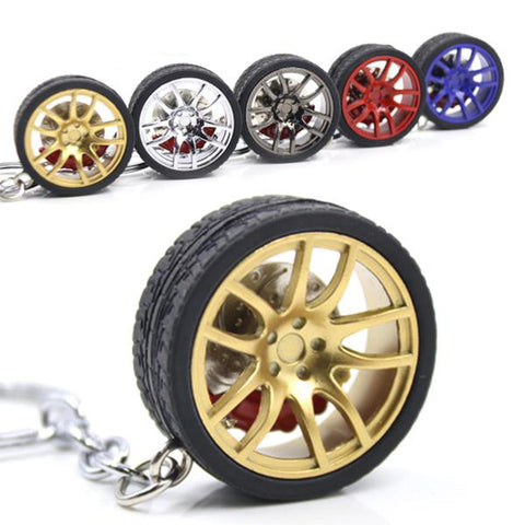 Detailed Wheel Keychain