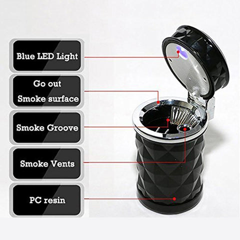 LED Light Ashtray