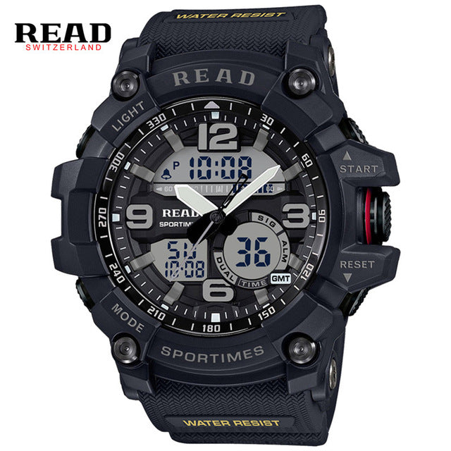 READ Brand Men Sport Military Quartz Watch