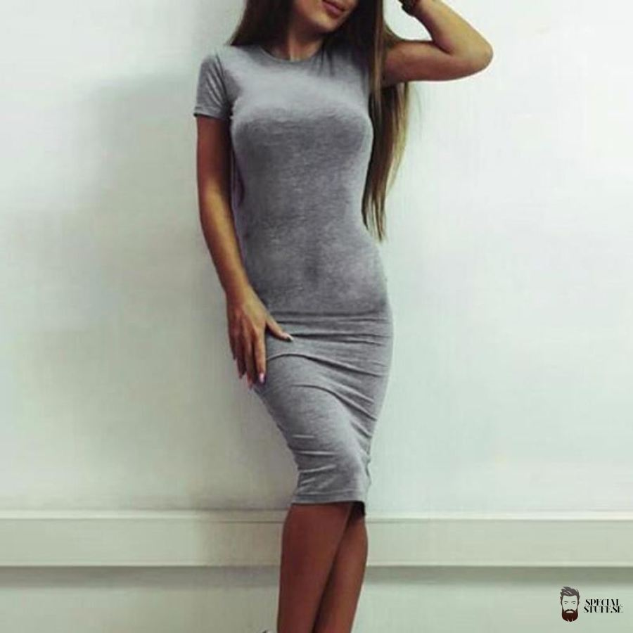 Special Stuff Bodycon Dress Short Sleeve Lady 2018 $16.90 Free Shipping Specialstuff.se