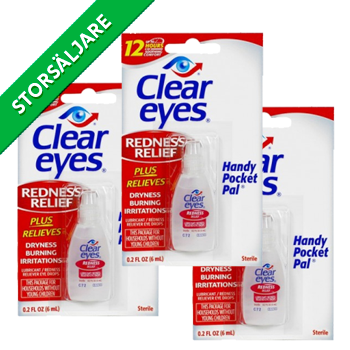 NEVER MORE RED EYES Clear Eyes - best for red eyes It's nothing like it. Clear Eyes orginal