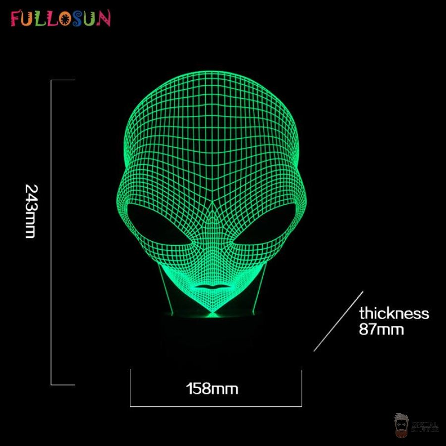 Special Stuff Supercool 3D Alien Shape Night Lights 2018 $20.90 Free Shipping Specialstuff.se