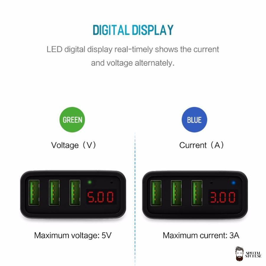 Special Stuff Universal Led Display 3 Usb Charger Mobile Phone Chargers 2018 $12.90 Free Shipping Specialstuff.se Led-Display-3-Usb-Charger