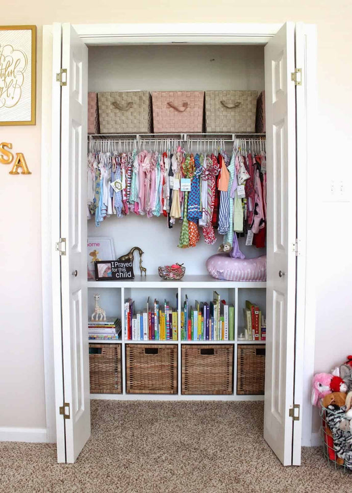Managing closet space can be an absolute nightmare! I'm sure I'm not the only one that has spent countless hours scouring Pinterest for some help and tips on how to wrangle the closet mess