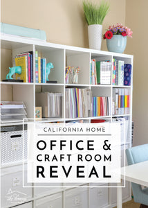 By sharing how I made the labels for my craft room storage baskets earlier this week, I can now do a full office and craft room reveal! I am so excited to give you guys a complete tour of the room you hardly ever see here on the blog, although it's...