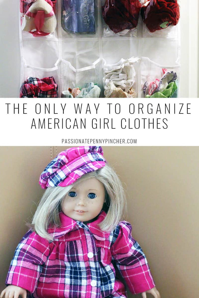 Here is a SUPER EASY way to organize American Girl doll clothes! You can use this for ALL of your American Girl stuff
