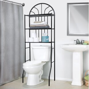 Exciting Black Over The Toilet Storage