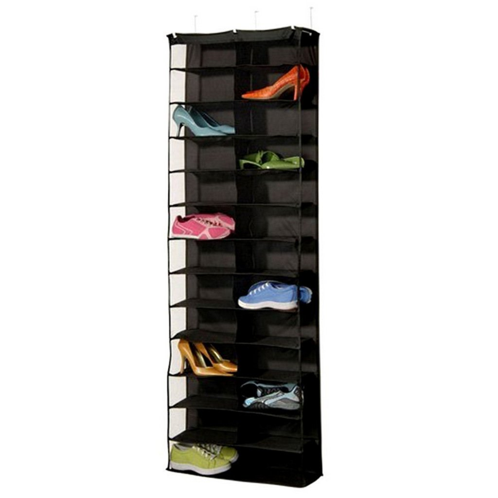 26 Pockets Hanging Shoe Door Organizer Storage Bag