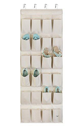 Mindspace Over The Door Shoe Organizer Rack | Hanging Shoe Organizer for Closet for Closet Organization & Laundry Room, Pantry, Bathroom Organizer