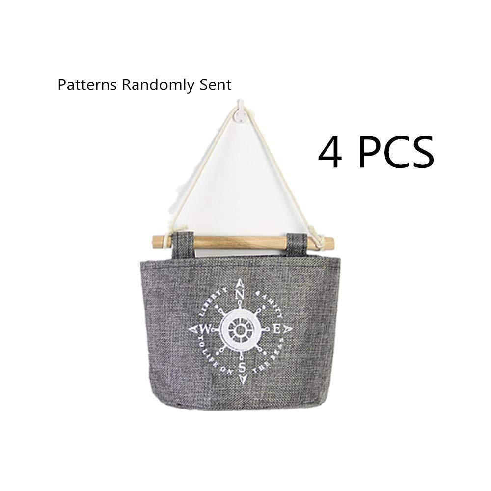 Fellibay Storage Basket Collapsible Linen Storage Bag Wall Hanging Basket Storage Bags Over Door Hanging Organizer Home Closet Wall Door Hanging Bag for Bedroom, Kitchen, Bathroom(4Pack)