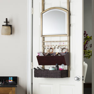 Canivar Over the Door Organizer with Mirror